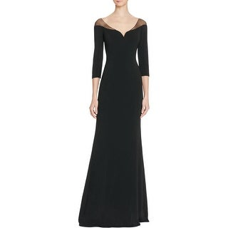Badgley Mischka Womens Formal Dress V-Neck Illusion