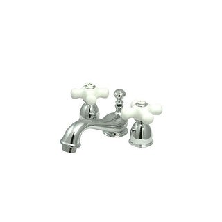 """Elements Of Design ES3951PX Double Handle 4"""" to 8"""" Mini Widespread Bathroom Faucet with Porcelain Cr"""