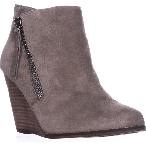 Jessica Simpson Carnivela Wedge Ankle Boots, Greyhound Suede