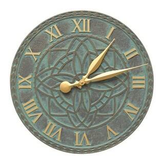 Whitehall Artisan 16-in Indoor Outdoor Wall Clock (Bronze Verdigris) - bronze verdigris