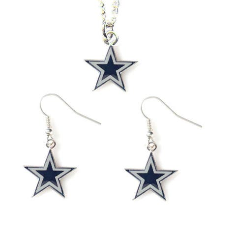 Dallas Cowboys Necklace and Dangle Earring Charm Set NFL