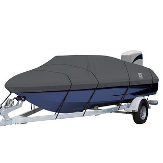 Link to StormPro™ Heavy Duty V-Hull Inboard/Outboard Cover with Support Pole Similar Items in Boats & Kayaks