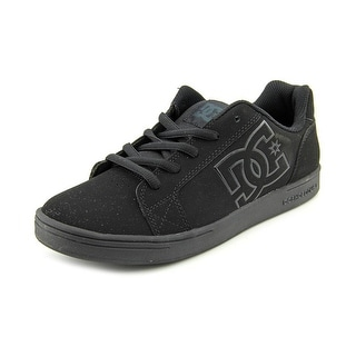 DC Shoes Serial Youth  Round Toe Leather Black Skate Shoe