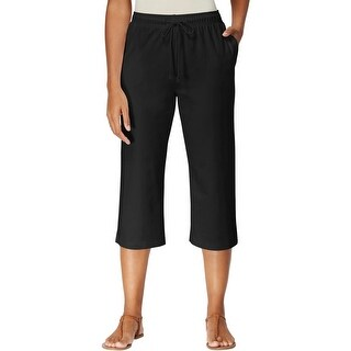 Karen Scott Sports Womens Lounge Pants Drawstring Cropped