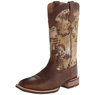 Ariat Mens Quickdraw Leather Square Toe Cowboy, Western Boots