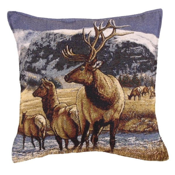 Set of 2 A Distant Call Rural Nature Square Decorative Tapestry Throw Pillows 17""