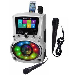 "All-In-One Wi-Fi Karaoke Bluetooth System with 7"" LCD Touch Screen and Extra Mic"