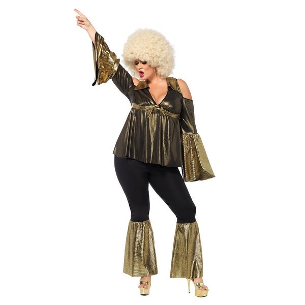 Shop Plus Size Disco Diva Costume Free Shipping Today Overstock