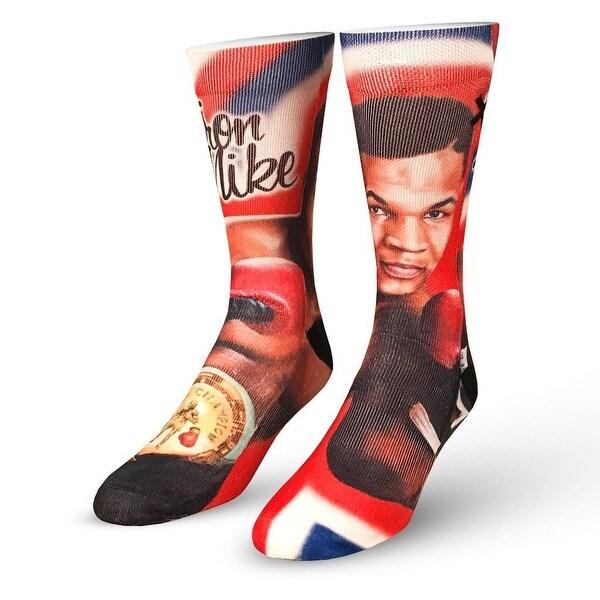 Odd Sox Men's Mike Tyson The Champ (Official) Socks Black