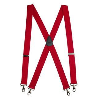 CTM® Men's Big & Tall Elastic Solid Color X-Back Suspender with Swivel Hook Ends