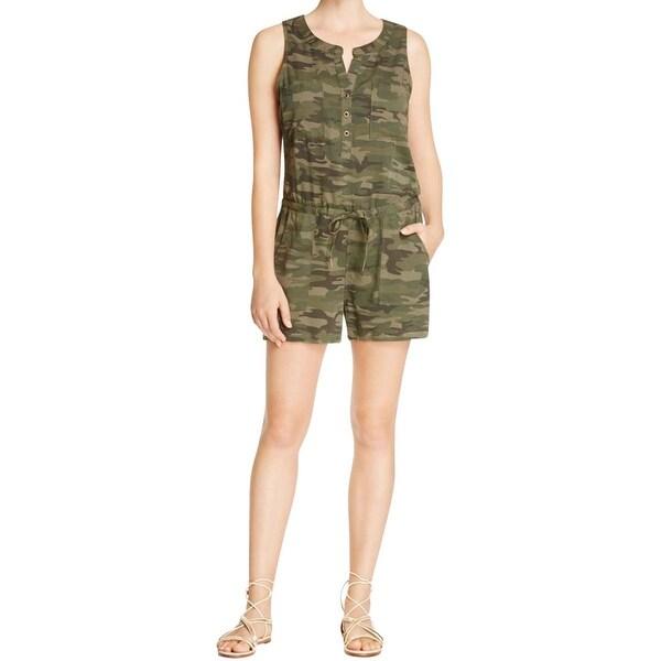 Sanctuary Womens Hazel Romper Camouflage Pockets