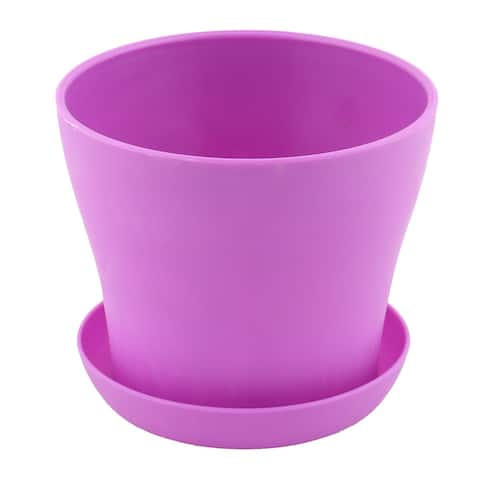 """Hotel Windowsill Rose Plant Flower Aloes Orchid Pot Tray Holder Purple - 4.8"""" x 4.1""""(Max.D*H)"""