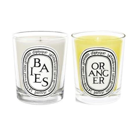 Diptyque Scented Candles Twin Pack (Berries, Orange Tree)