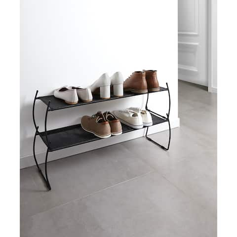 "Umbra 318125 Set of Two Imelda 32"" Wide Polyester Stackable Shoe Rack by Jordan Murphy"
