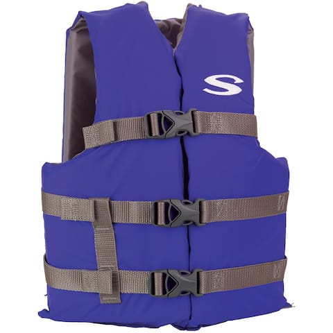 Stearns classic youth life jacket blue 50-90 lbs