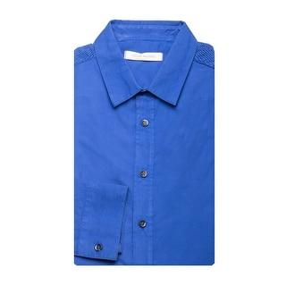 Pierre Balmain Men's Modern Collar Cotton Dress Shirt Blue - eu 42 / us 16.5