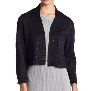 Calvin Klein NEW Black Women's Size XL Sequin Shrug Wool Sweater