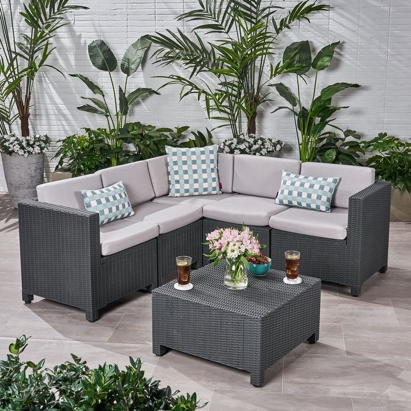 Waverly 5-seater Cushioned Sectional Set by Christopher Knight Home. Opens flyout.