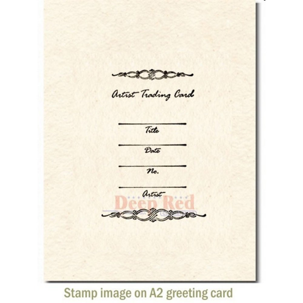 Sewing Machine Flourish Rubber Stamp Deep Red Stamps
