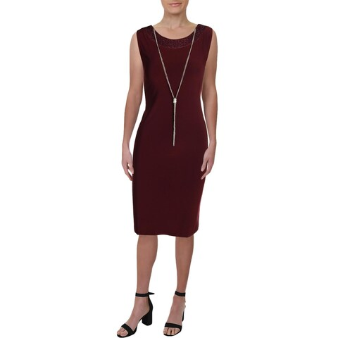 R&M Richards Womens Cocktail Dress Matte Jersey Metallic