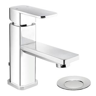 Belanger MIR22CCP Single Handle Centerset Bathroom Faucet with Drain, Polished Chrome