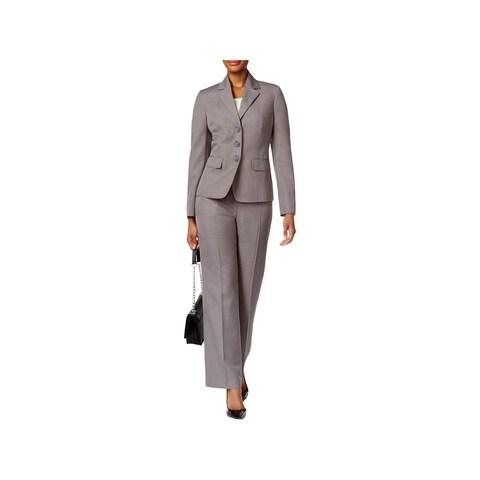 Le Suit Womens Pant Suit Pattern Star Collar