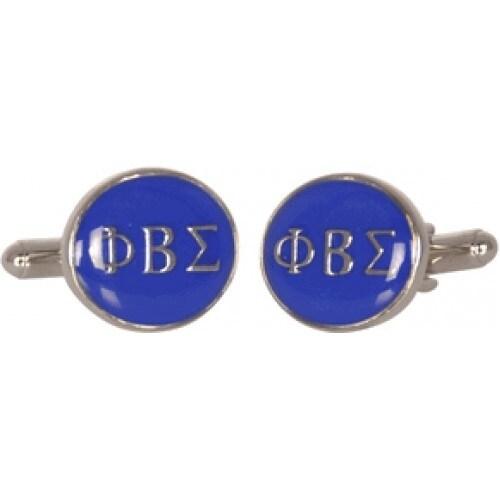 Phi Beta Sigma Fraternity College Howard University Brotherhood Greek Blue Silver Cufflinks