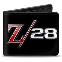 1969 Camaro Z 28 Emblem Black Silvers Red Bi Fold Wallet - One Size Fits most