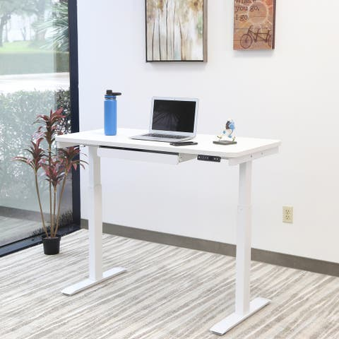 Motionwise Electric White Standing Desk