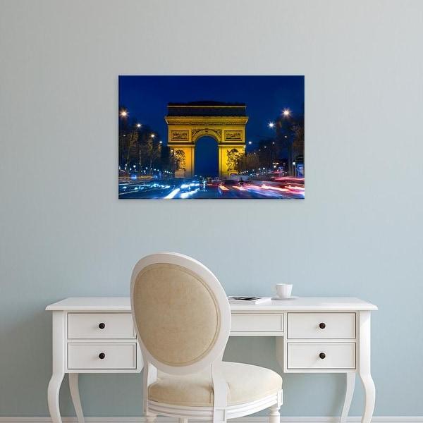 Easy Art Prints Jaynes Gallery's 'Arc De Triomphe' Premium Canvas Art