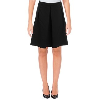 Anne Klein Womens Knit Skirt Pleated A-Line
