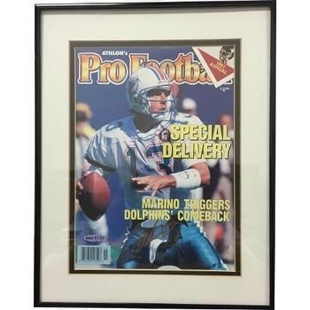 435330422d4 Shop Dan Marino signed Miami Dolphins 1991 Athlon Sports Pro Football Cover  Framed LTD Edition 13100 Upp - Free Shipping Today - Overstock.com -  19868511