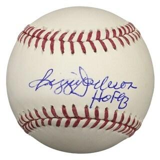 Reggie Jackson New York Yankees Signed Rawlings  Baseball HOF 93 JSA