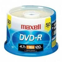 Maxell DVD-R, 4.7GB, 16x, Branded, 50pk Spindle
