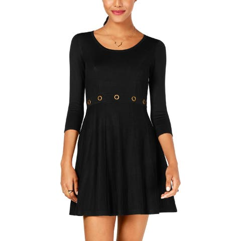 BCX Womens Sweaterdress Flare Ribbed