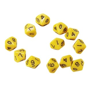 10 Sided Polyhedra Dice Set Of 12