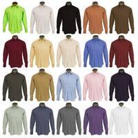 Men's Wrinkle Free Cotton Blend French Cuff Dress Shirts 2