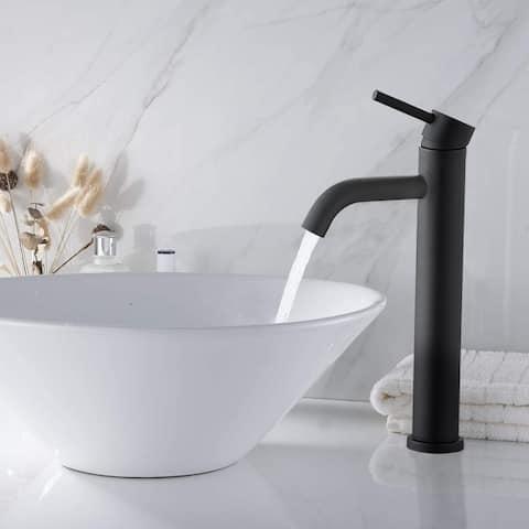Single Handle Vessel Bathroom Sink Faucet ORB single Tape