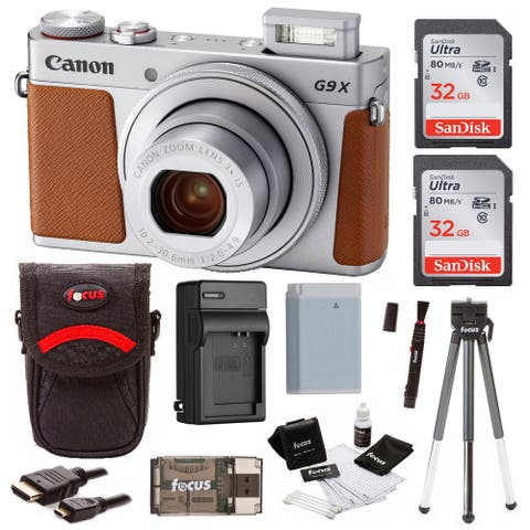 Canon Powershot G9 X Mark II Digital Camera with 64GB SD Card Bundle
