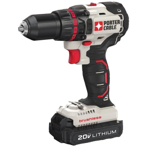PORTER-CABLE(R) PCC608LB 20-Volt MAX* Compact Cordless & Brushless Drill
