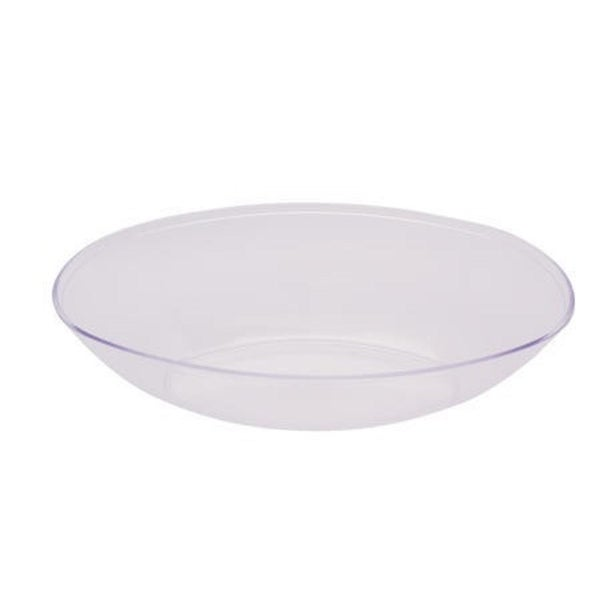 shop club pack of 12 form function clear large plastic oval bowls 64 oz free shipping today. Black Bedroom Furniture Sets. Home Design Ideas