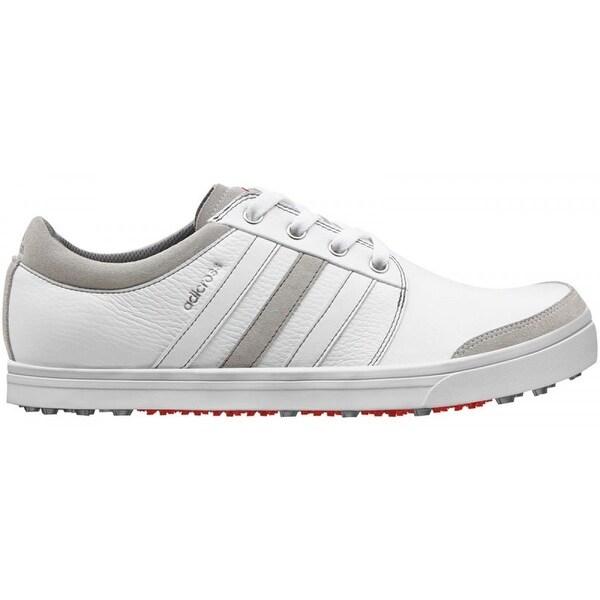 Adidas Men's Adicross Gripmore Running White/Light Scarlet Golf Shoes  Q47007