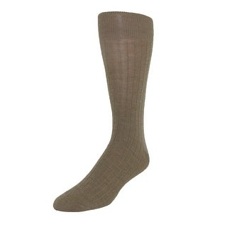 Ecco Men's Merino Wool Dress Sock, 10-13, Black - Tan - One Size
