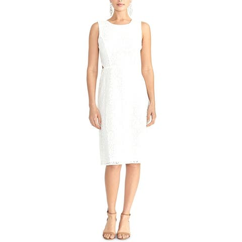 Rachel Rachel Roy Womens Elana Midi Dress Sleeveless Lace