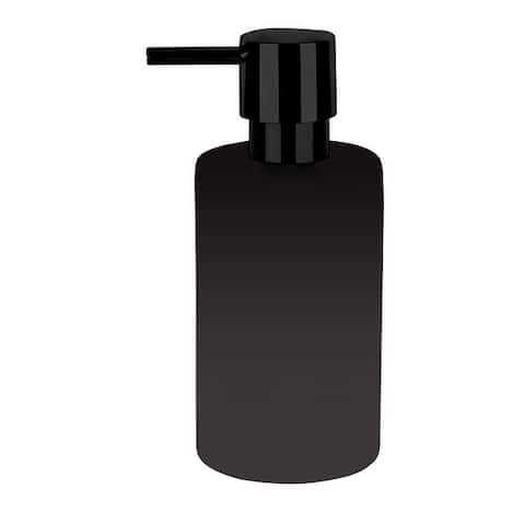 Countertop Soap And Lotion Dispenser Spirella Tube Matte Black Porcelain - 7 fl. oz.