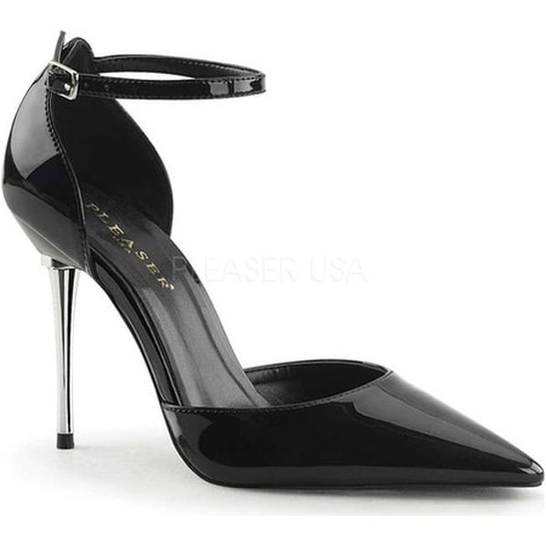 7117fe6e2b Shop Pleaser Women's Appeal 21 Ankle-Strap d'Orsay Pump Black Patent - Free  Shipping Today - Overstock - 16355689