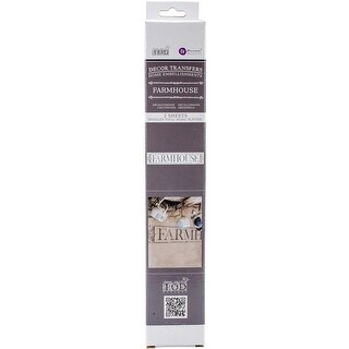 33.875 x 12 in. Iron Orchid Designs Decor Transfer Rub-Ons,