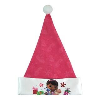 "Doc Mc Stuffins Girls Christmas 16"" Pink Felt Hat Satin"