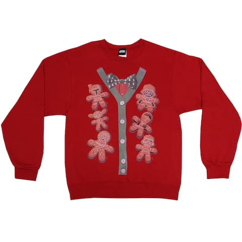 Star Wars Xmas Cookies Cardigan Print Ugly Christmas Sweater