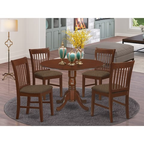 5-piece Dining Set - Round Table and 4 Dinette Chairs (Chairs Option)